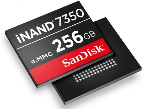 iNAND 7350 от Western Digital — накопитель ёмкостью до 256 Гбайт для смартфонов