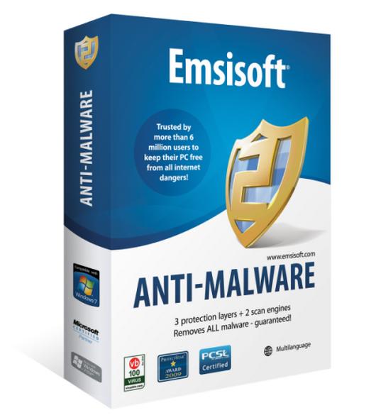 Emsisoft Anti-Malware 2017.3.2.7392 - отлично удаляет червей и трояны