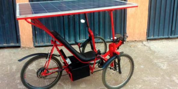 Веломобиль Solar E-Cycle на солнечных панелях