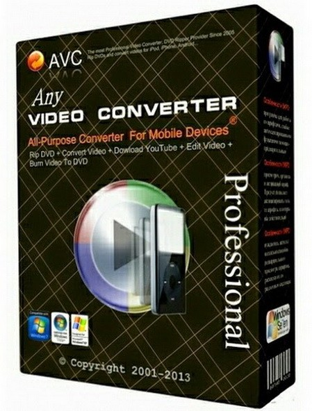 Any Video Converter Free 6.1.5 - бесплатный конвертер
