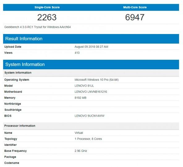 Snapdragon 850 первые тесты