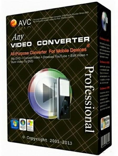 Any Video Converter Free 6.2.9 - бесплатный конвертер